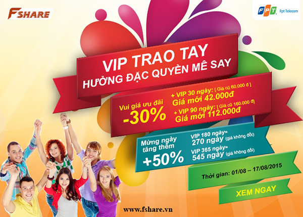 VIP TRAO TAY – HƯỞNG ĐẶC QUYỀN MÊ SAY