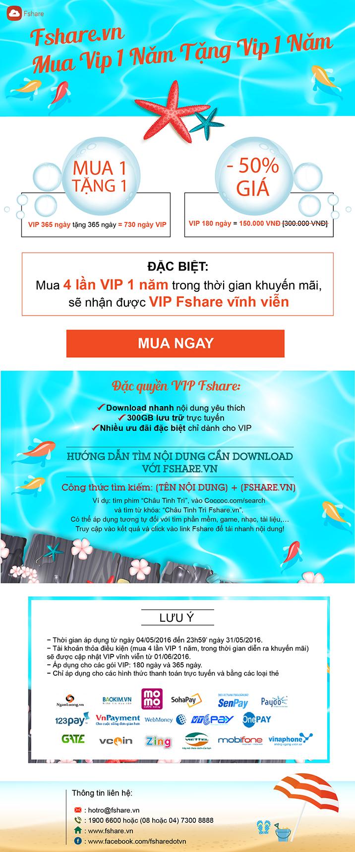VIP FSHARE MUA 1 NĂM TẶNG 1 NĂM